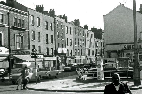 Corner of Brick Lane and Bethnal Green Rd, 1971