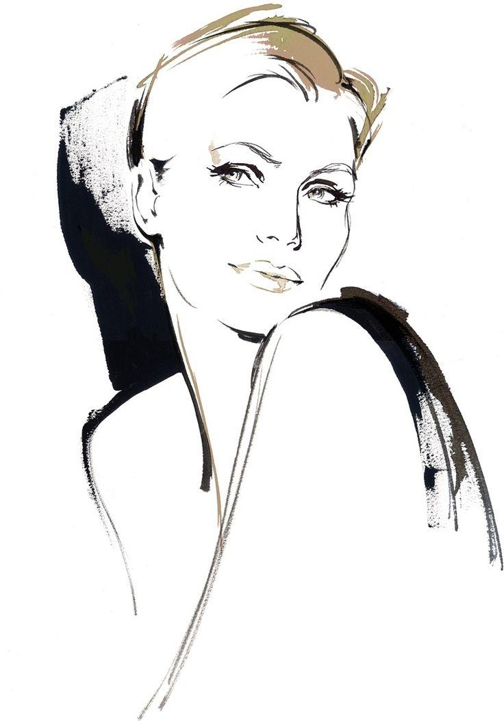 Katharine Asher || fashion illustration