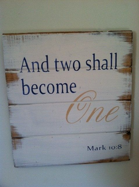 Two become One  13w x14h handpainted wood sign by OttCreatives
