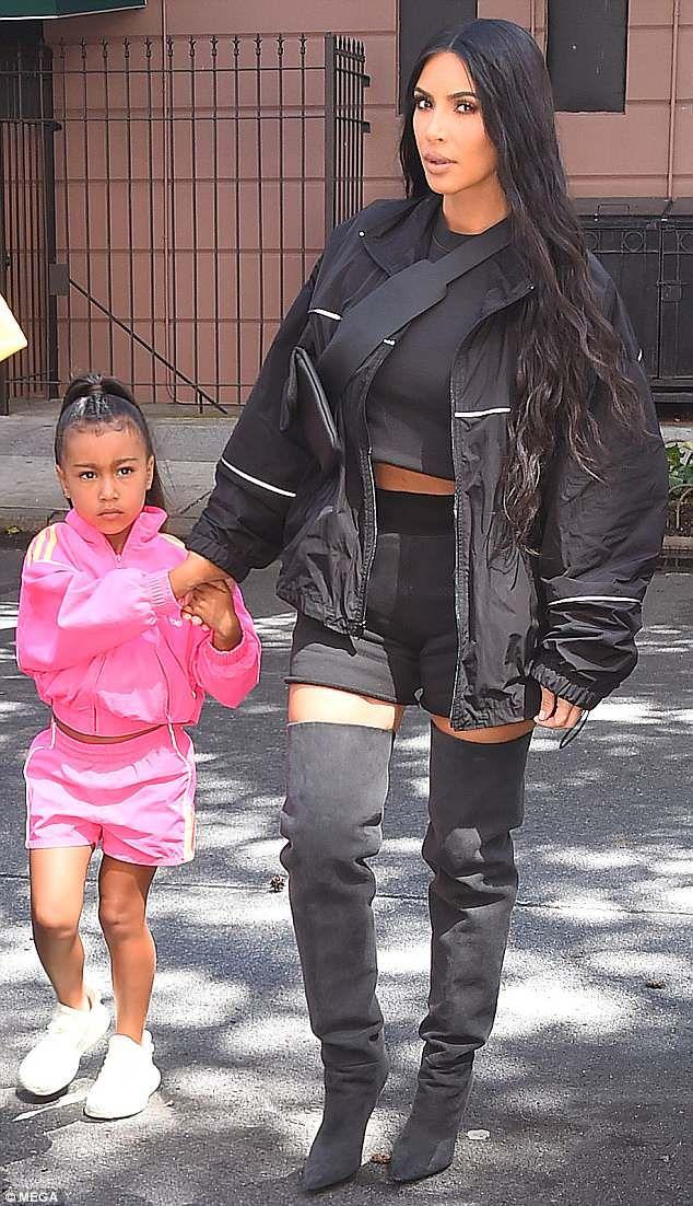 e8b4a5d8d Kim Kardashian's daughter North, 5, wears Ariana-Grande-style ...