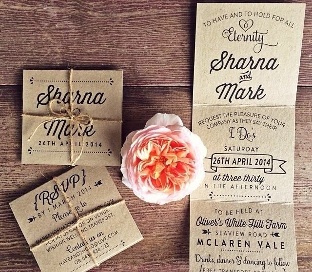 Rustic invitation idea