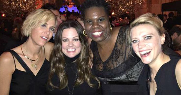 New 'Ghostbusters' Unite in 'SNL 40th Anniversary' Photo -- Leslie Jones gathers with Kristen Wiig, Melissa McCarthy and Kate McKinnon for the first photo of the new 'Ghostbusters' cast together. -- http://www.movieweb.com/ghostbusters-3-remake-cast-photo