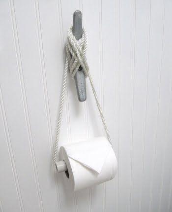 Nautical theme toilet paper holder. FUN!