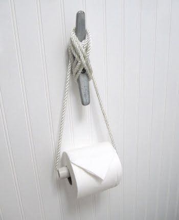 Nautical theme toilet paper holder.  FUN!