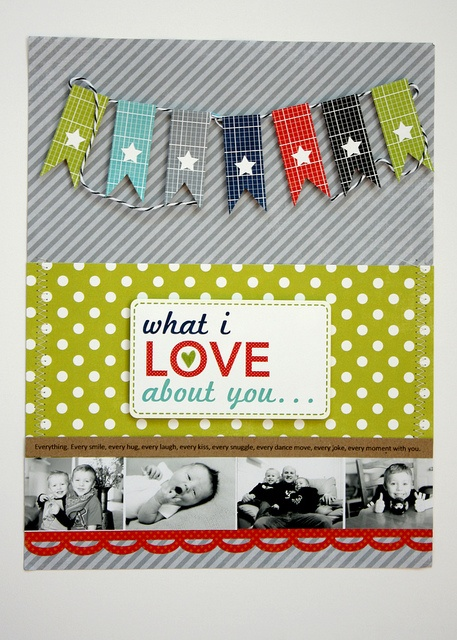 What I Love About You 8 x 11 Layout by