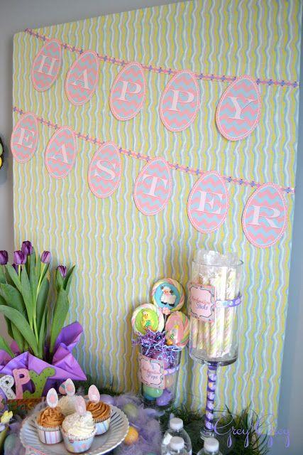 Free Printable Happy Easter Printable Banner from ishouldbemoppingthefloor{dot}c…   – Printables