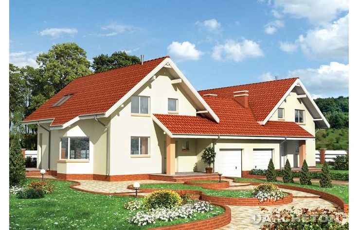 Dom parterowy, z użytkowym poddaszem, niepodpiwniczony, z garażem, do zabudowy bliźniaczej. Wygodny dom dla 4-6 osobowej rodziny.