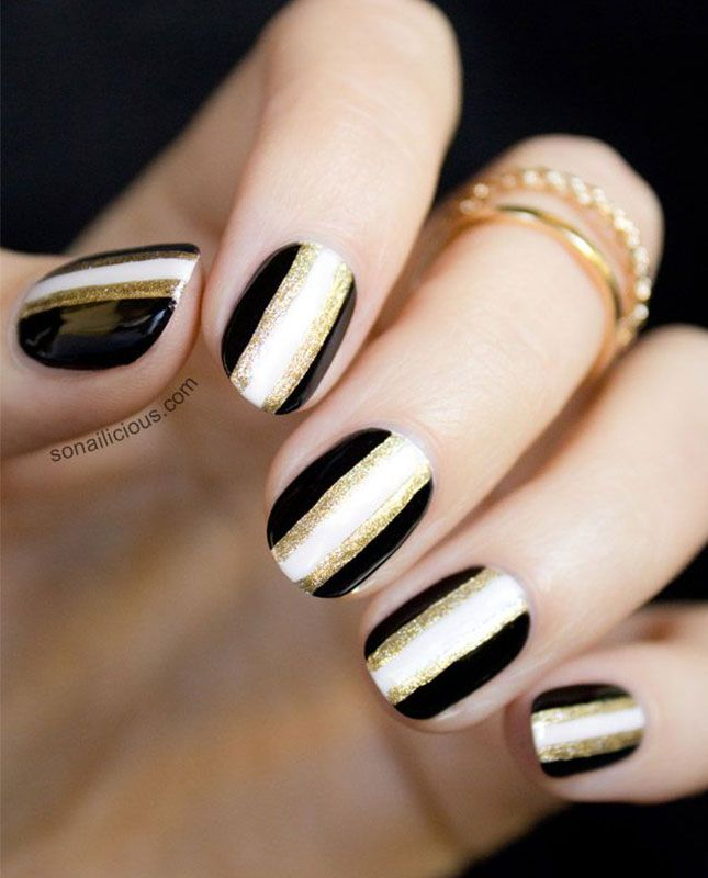 Best 25 black white nails ideas on pinterest fun nails black ditch the pastels and check out these 11 black white nail designs prinsesfo Gallery
