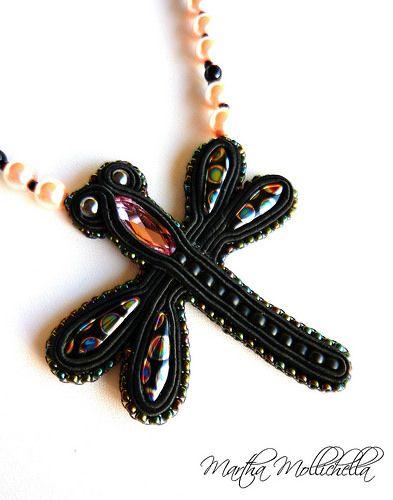 dragonfly pendant necklace libellula - Lacasinaditobia Lacasinaditobia