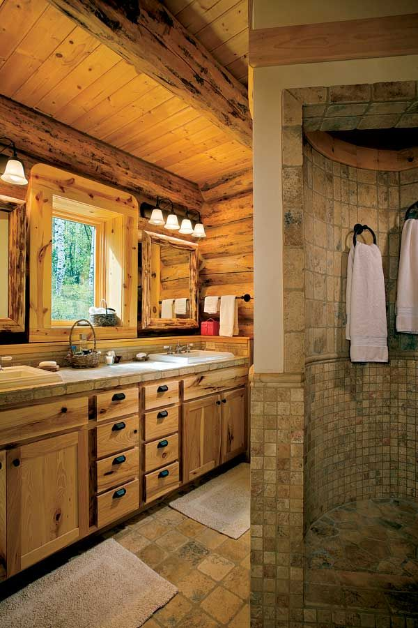 log home bathrooms interiors interior of the semicircular walk in shower