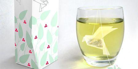 bird tea bagTeas Time, Packaging Design, Green Teas, Teas Packaging, Origami, Bags Design, Birds, Teas Bags, Berries