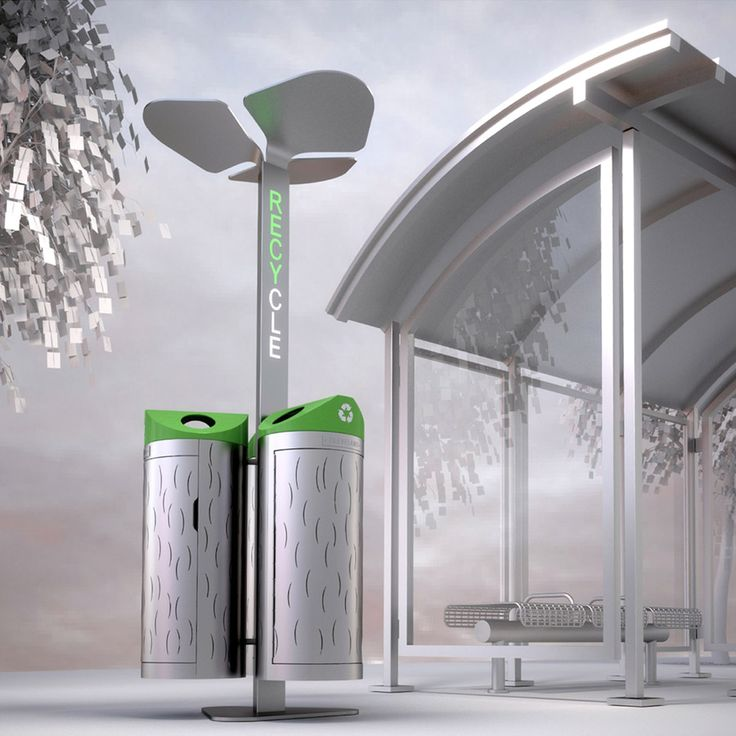 DRB - downtown recycle bin by Michel-ina  / Cleveland // http://www.michel-ina.com