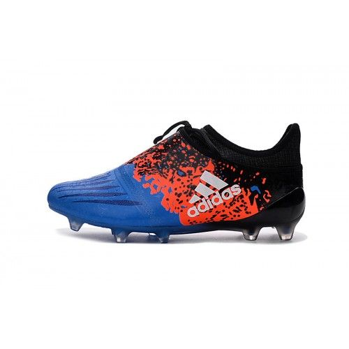 Adidas X Fotbollsskor - Billig Adidas X 16 Purechaos FG AG Bla Orange Svart Fotbollsskor