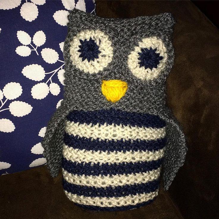 Loomed owl toy by @vanemargo
