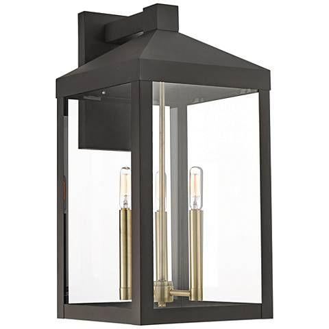 Nyack 21 3/4″ High Bronze Outdoor Wall Light