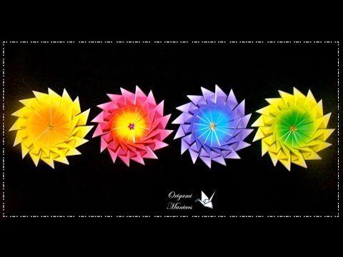 Origami Maniacs 254:  Zig Zag Mandala (Tea Bag Folding) - YouTube