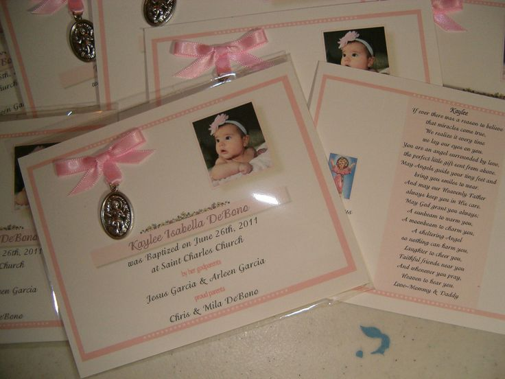 20 BAPTISM FAVORS medal cards personalized by annthompson121