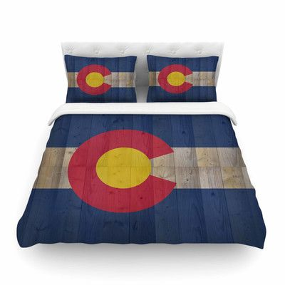 East Urban Home Flag of Colorado by Bruce Stanfield Featherweight Duvet Cover Size: Full/Queen