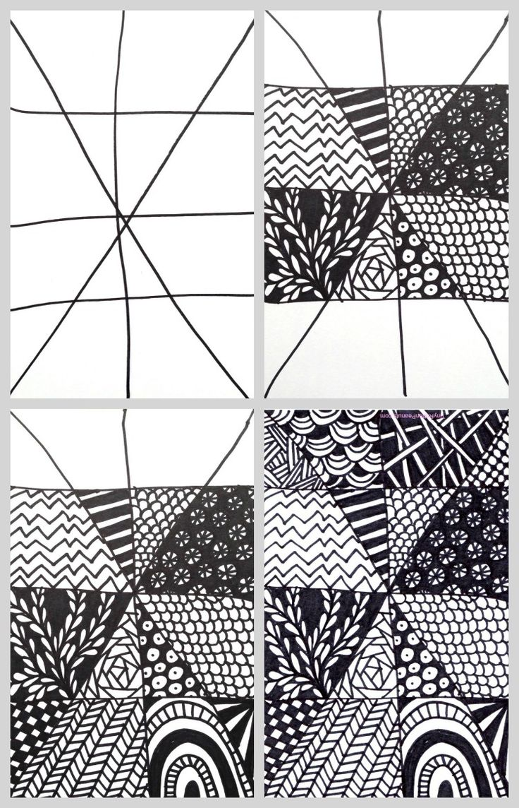 Super quick and easy Zentangle Project!