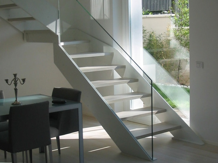 WOODEN OPEN STAIRCASE BY SANDRINI SCALE