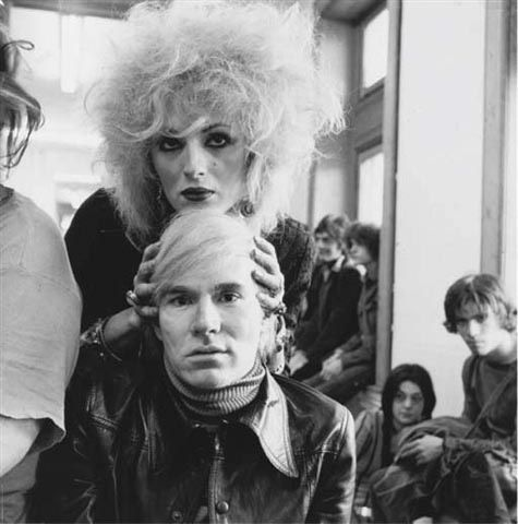 Andy Warhol and Velvet Underground's transsexual muse Candy Darling. Photographed by Cecil Beaton.  (Sir Cecil Beaton (1904- 1980) was a English photographer known primarily for his portraits of celebrated persons, who also worked as an illustrator, a diarist, and an Academy Award-winning costume and set designer.)
