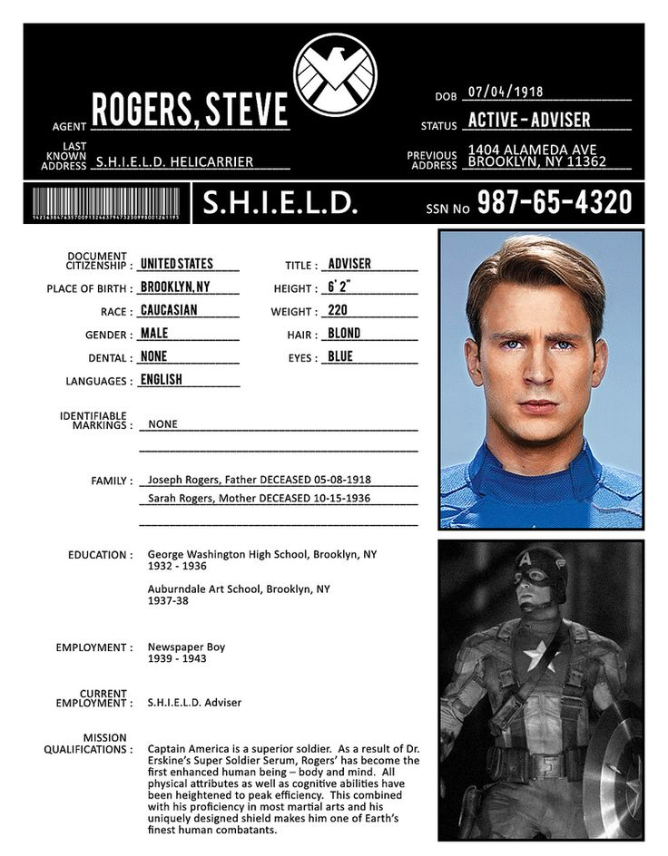A gallery of images of S.H.I.E.L.D. files.