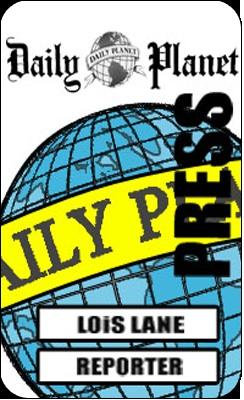 Lois Lane Press Pass Printable Free
