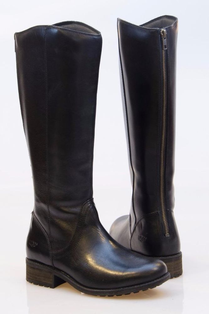 ugg riding boots black