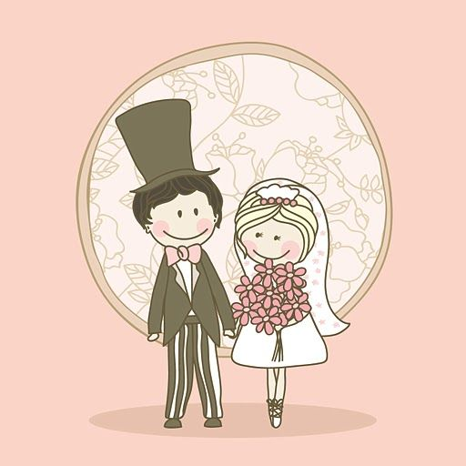 42 best dibujos de novios images on Pinterest  Drawings Marriage