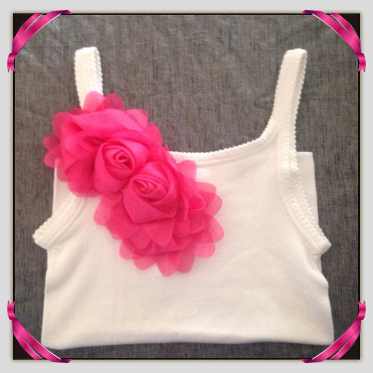 Girl's Cotton Singlet with Pink Ruffle Accent with sizing from 1-2 to 9-10. Also available in long sleeve design. Available to pre-order from www.maxidressheaven.com. #girl #clothing #handmade #singlet