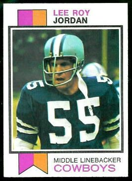 lee roy jordan football cards | Lee Roy Jordan 1973 Topps football card