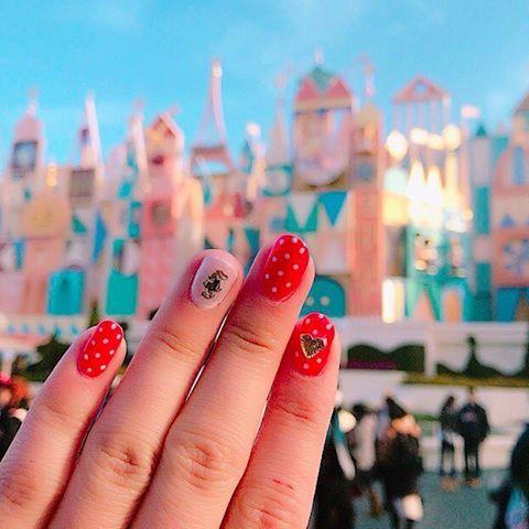 ディズニーネイル Disney nail gelnail selfnail olynpuspenepl7 minniemouse