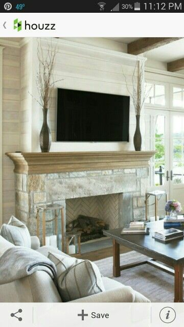 Shiplap Fireplace Fireplaces And White Stain On Pinterest