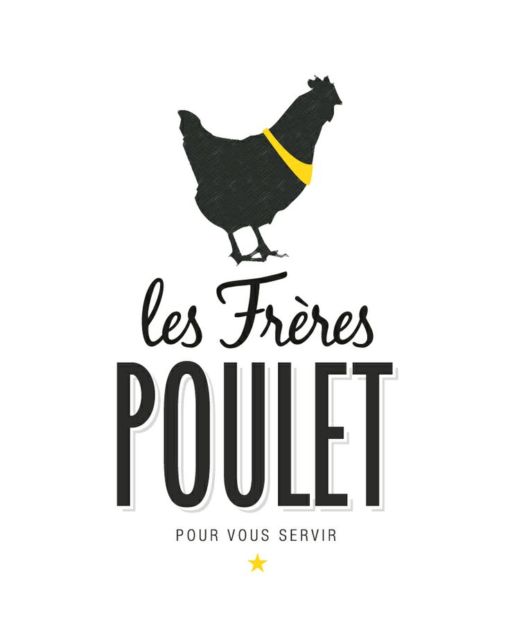 Identité visuelle Les Frères Poulet, rôtisserie à La Ciotat