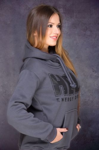 HELL Hoodie in Dark Grey