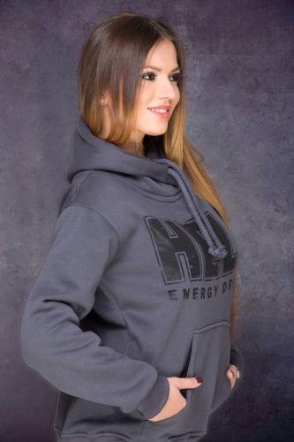 HELL Hoodie in Dark Grey