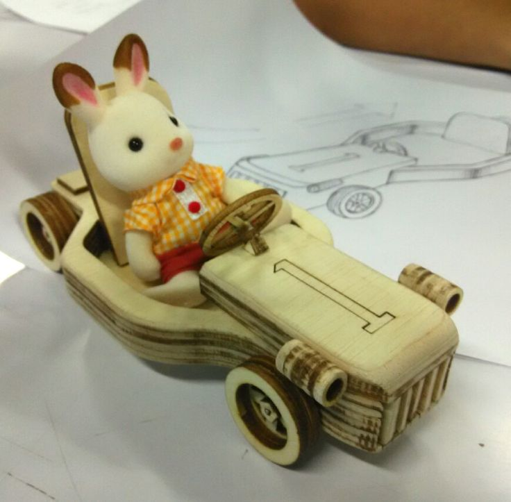 laser cut wood toy car. UPH, Workshop 2, Despro 2013. UTS