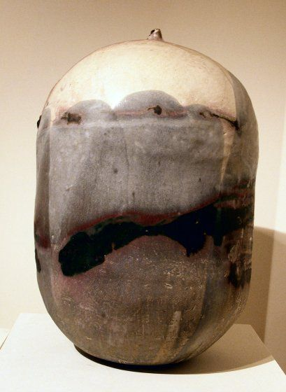 Shiro Momo (White Peach), porcelain by --Toshiko Takaezu--, 1992, --Hawaii State Art Museum-- - Toshiko Takaezu - Wikipedia, the free encyclopedia
