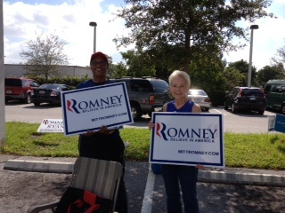 Patriots at the early voting location in Lantana.