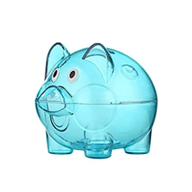New Transparent Plastic Piggy Bank