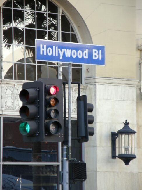 Cartel en Hollywood Boulevard, Los Angeles, California - Estados Unidos