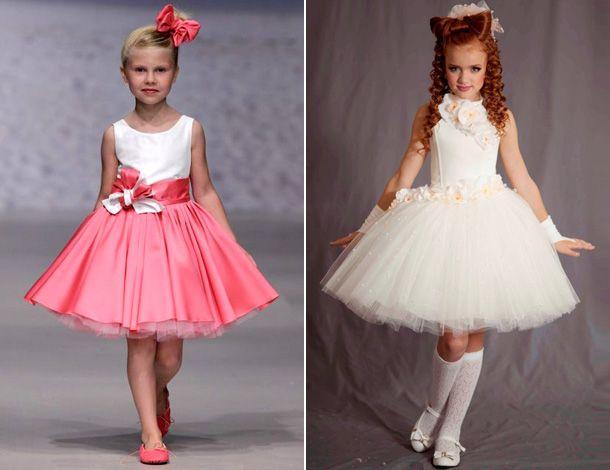 Платья с пачкой для девочек на Новый год 2017