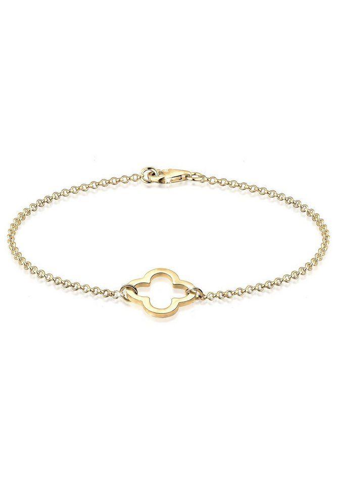 Elli Armband »Kleeblatt Glücksbringer 925 Sterling Silber«