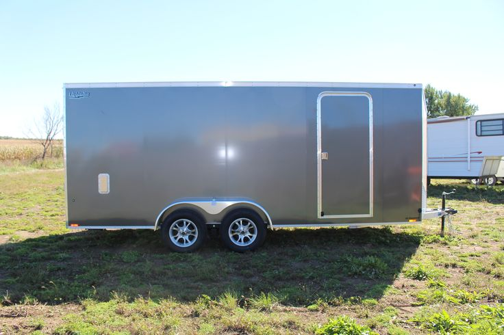 Don't miss out on this 2017 Charcoal Lightning Cargo Trailer!  Aluminum frames weigh considerably less than steel frames. The result is better fuel mileage and greater payload capacity. L.E.D. lights draw less power from your vehicle's battery, have longer life expectancy, and shine much brighter!