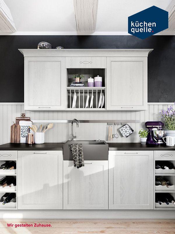 Wie in einem cottage in cornwall die systema 6035 in satinfarbener esche lässt das landhausküchen