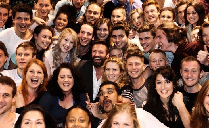 Perth drama students and Hugh