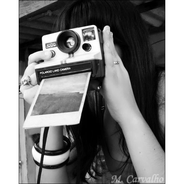 polaroid instant camera | Tumblr found on Polyvore