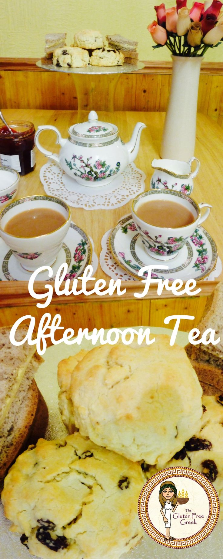 Mothers Day afternoon tea Gluten Free Scone Recipe! Check it out on the blog!