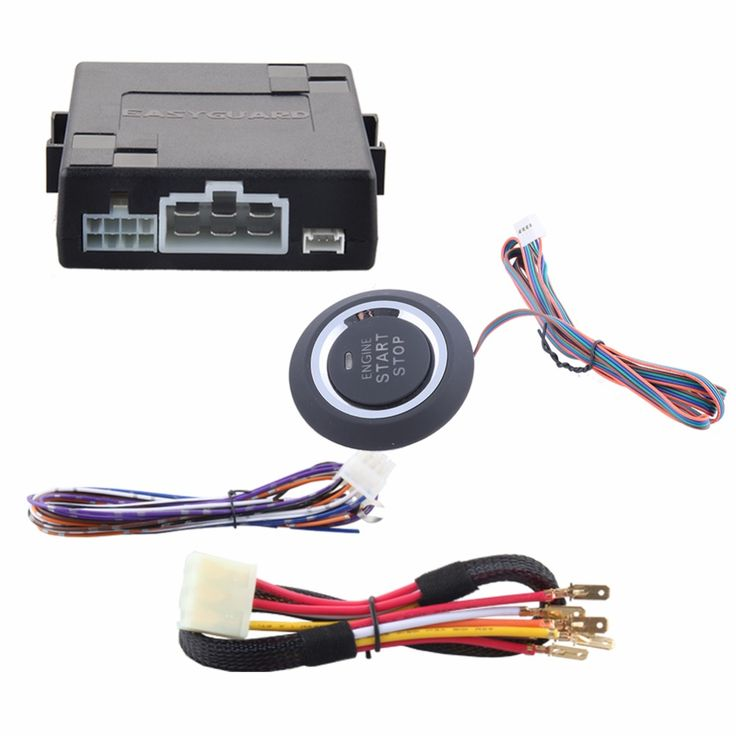 EASYGUARD Universal Push Button Start System With Auto Starter For Automatic Shift Car Can Work With Keyless Entry SystemDC12V