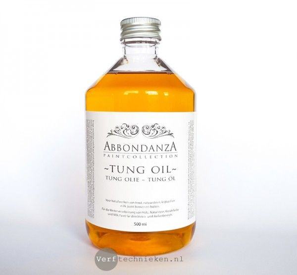 Abbondanza Tung Oil, to protect and seal wood, concrete, stone, chalk paint & milk paint